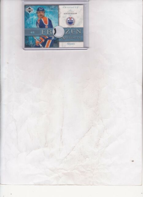 2006/07 UPPER DECK ARTIFACTS GLENN ANDERSON 2 COLOR PATCH CARD #FA-GA #d4/5
