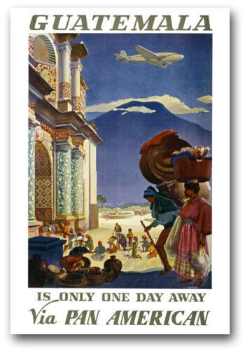 Tw75 vintage Guatemala Voyage en Amérique du Sud Poster Imprimer A1 A3 A2