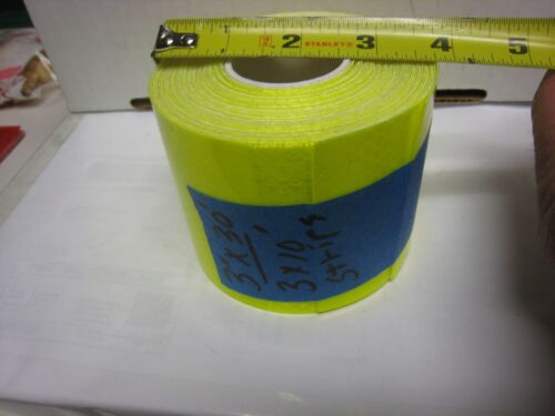 "NEON YELLOW  Reflective  Conspicuity  Tape 3/"" x 30 feet LOT of 3/"" x 10/'"