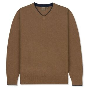 Musto-Shooting-Knitted-V-Neck-Toffee-Size-S-L-XL-3XL