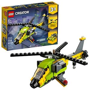 LEGO-Creator-3in1-Helicopter-Adventure-31092-Building-Kit-New-2019-157-Piece