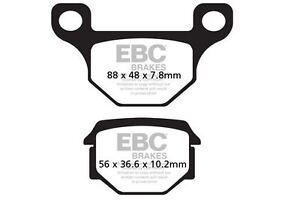 Para Aprilia RS4 50 (4T) ( Ajp Calibrador) 11>14 EBC Orgánico Pad Set Trasero