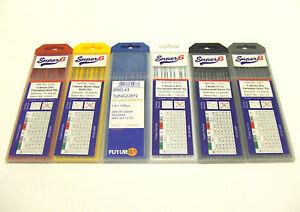 Electrodes de tungst/ène blanc gris noir or rouge 4,0 mm. 1,0 mm /Électrodes de soudage TIG