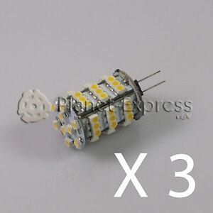 3-x-Bombilla-G4-54-Led-SMD-Blanco-Calido-330-Lumen-12V-DC-caravana-barco-coche