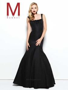 Mac-Duggal-48136-Authentic-Black-Midnight-Mermaid-Prom-Party-Gown-size-14