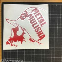 Metal Mulisha Slaughtered Die Cut Sticker Red 6 Inch