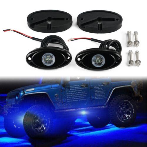 2X Car LED Rock Light Fit Offroad Truck UTV ATV SUV RV Under Body Universal Lamp