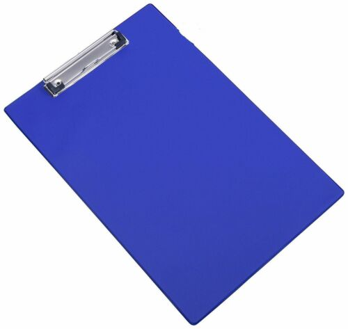 A4 Klemmbrett Clip Platte Foolscap PVC Halterung Schwarz Blau Rot Kav
