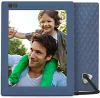 Nixplay Seed 8 Inch Wifi Digital Photo Pictures Frame Present Gift Modern, Blue