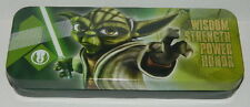 Star Wars The Clone Wars Yoda with Lightsaber Tin Catch All Pencil Case, UNUSED