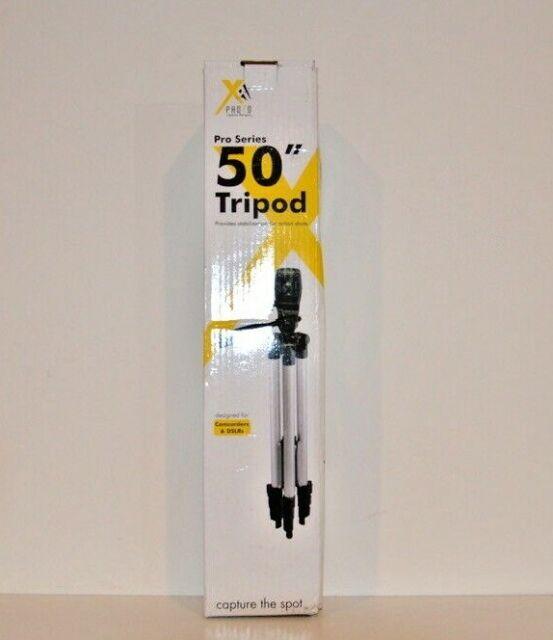 Xit Pro Series 50-inch CAMERA TRIPOD NEW OPEN BOX-DESIGNED FOR DSLRS & CAMCORDER