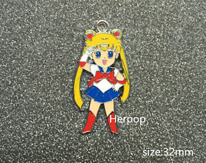 Lot Japanese anime girl Metal Charms DIY Jewelry Making necklace Pendants m-04