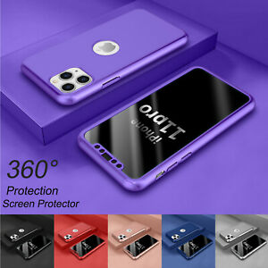 "For iPhone 11 6.1""/ 11 Pro Max 6.5"" 360° Shockproof Case Cover + Tempered Glass"