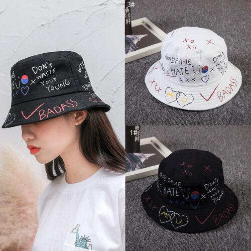 Women Cotton Bucket Hat Casual Plaid Sun Protection Beach Cap Fisherman Cap