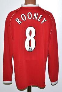 Manchester United 2006/2007 Calcio Casa Maglietta #8 Rooney Adulto Nike Taglia XL