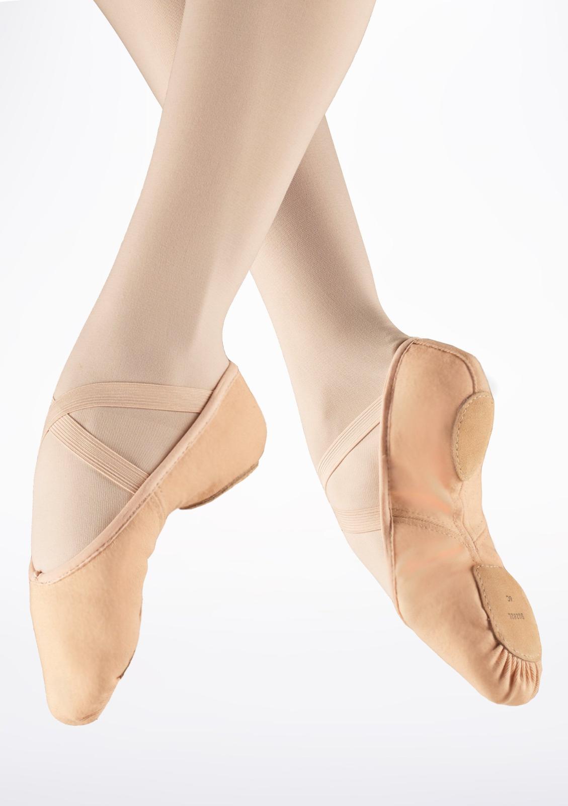 Pink Bloch canvas Zenith split sole ballet shoes -all sizes S0282