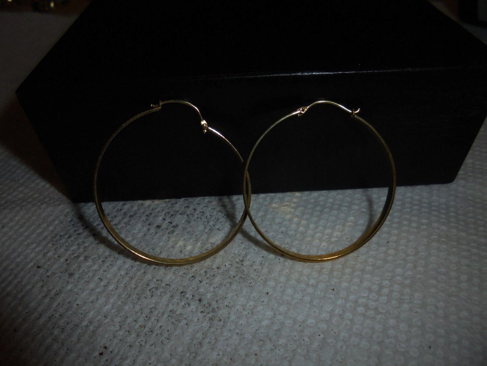 14 kt 1 1 4' gold hoops