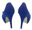 thumbnail 5 - Womens Ladies Blue Faux Suede Platform High Heel Party Court Shoes Size UK 3 New