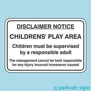 VSafety Disclaimer Notice Sign 300mm x 200mm 1mm Rigid Plastic