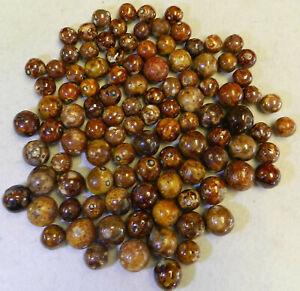 10266m-Vintage-Group-or-Bulk-Lot-of-100-German-Handmade-Clay-Bennington-Marbles