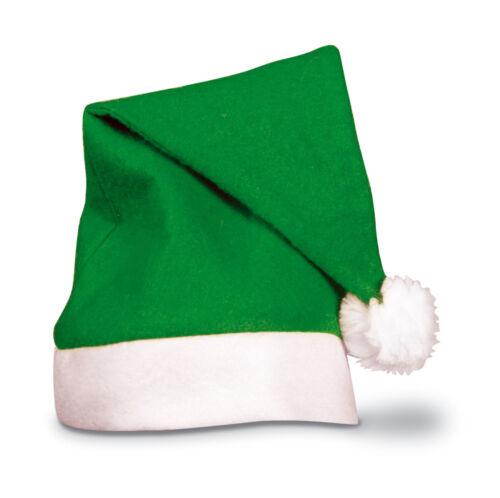 1-25 x colorate per Adulti Feltro Cappello Babbo Natale Renna Natale lavoro Party Rosso LOTTO