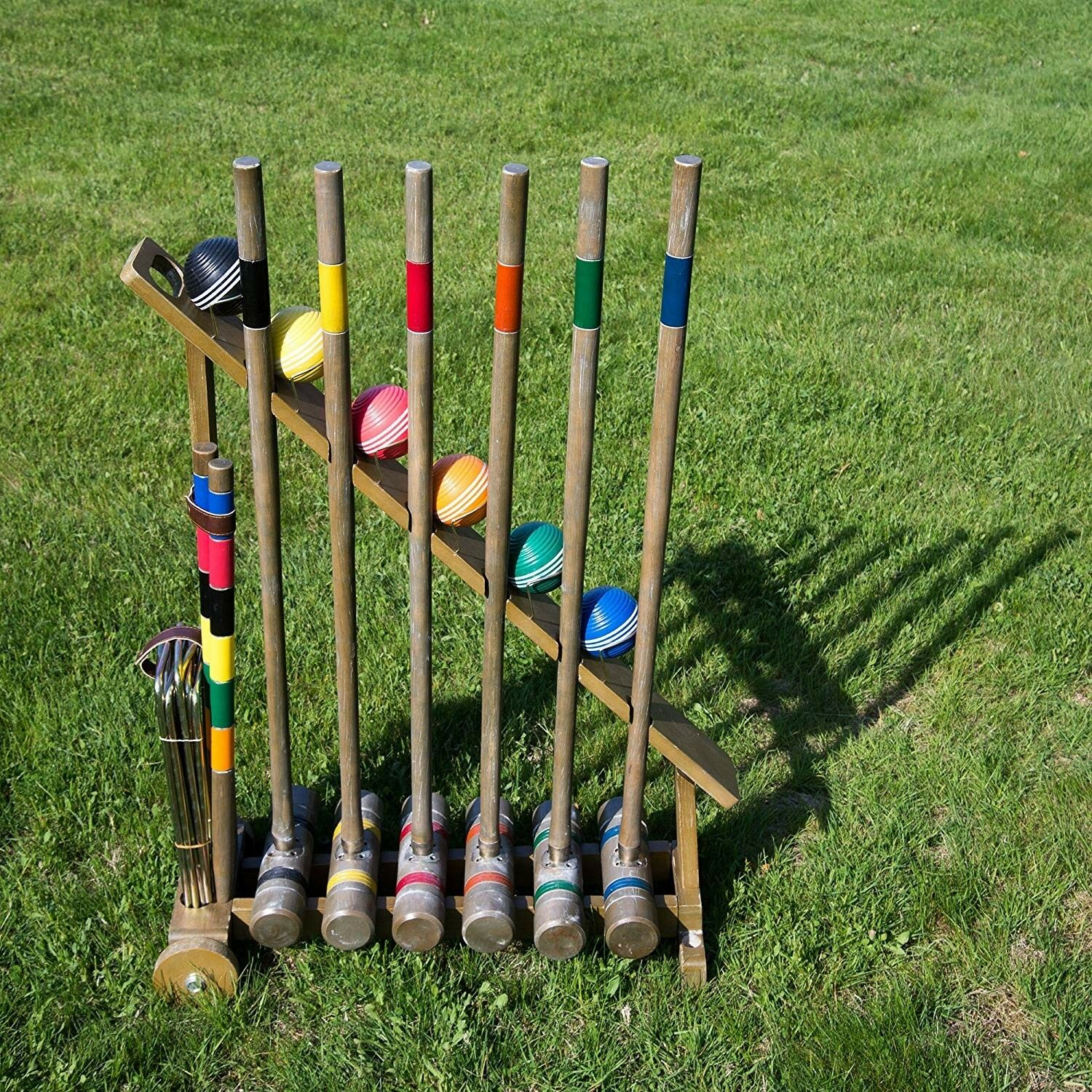 High Quality Brass Fitted Vintage Style Croquet Set