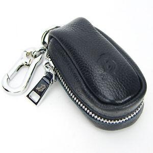 Details about Men women s fashion durable real genuine leather auto car key  case chains black 59f43c95a0
