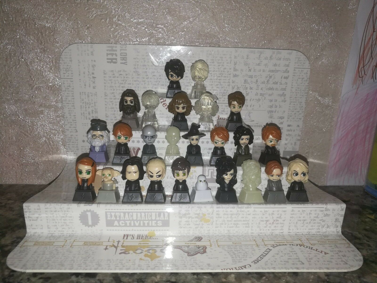 Full set of HARRY POTTER  figures Wizzis, on a pencil, a gift (rare)