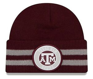 more photos 21c16 999a6 Image is loading Texas-A-amp-M-Aggies-Cuffed-Knit-Hat-