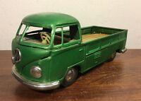 Vintage Bandai Tin Friction Volkswagen VW Pick Up Truck Transporter Japan Nice