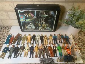 Star Wars!!!! 35 Vintage Figures and 1977 Case - Kenner