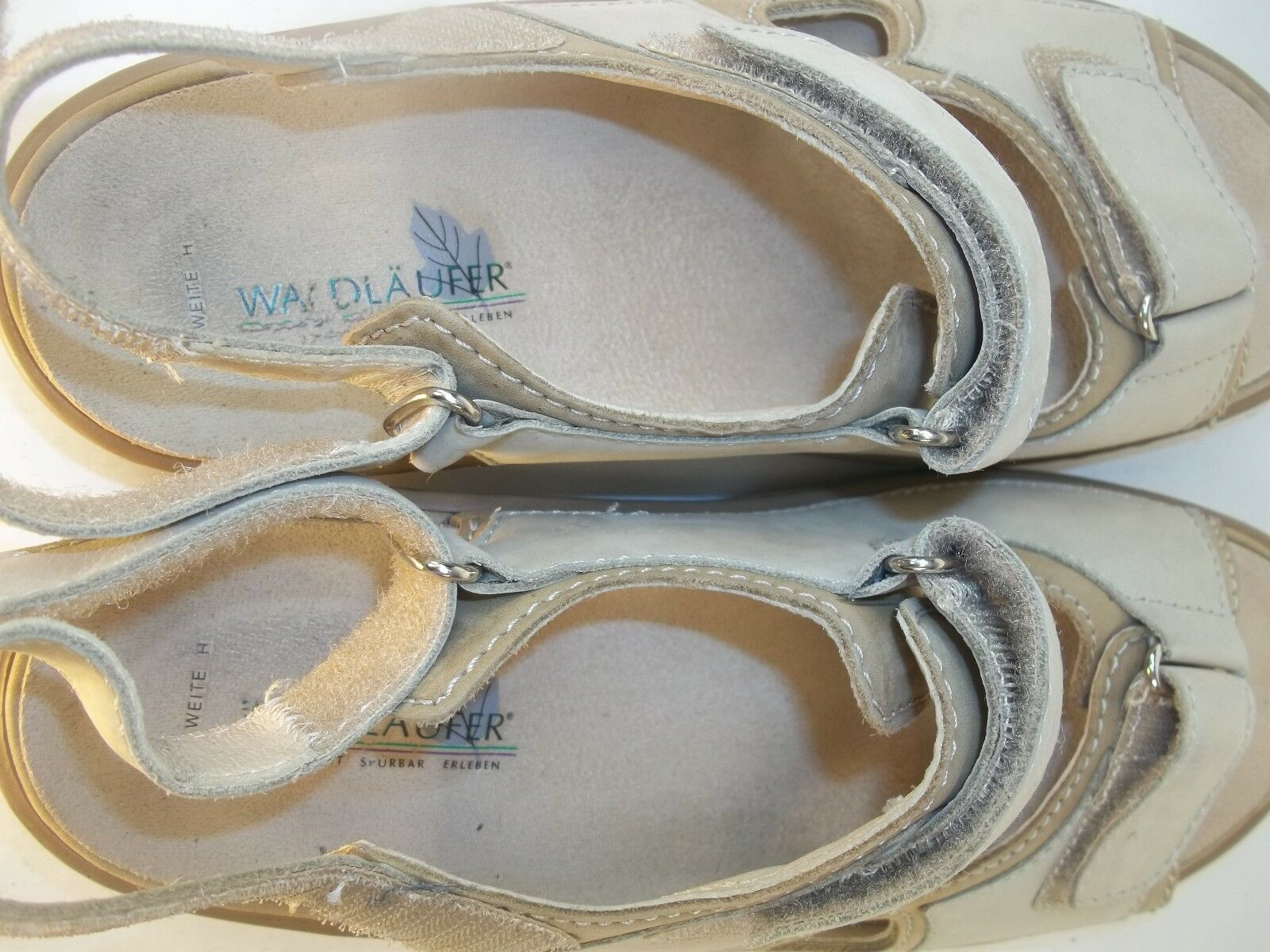 Waldlaufer Wos scarpe Sandals US 6 Beige Two tone Suede Suede Suede Straps Walking 1026 830a1c