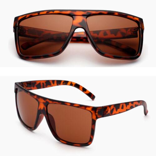 Retro Oversized Black Large Frame Sunglasses Mens Womens Fashion UV400 Eyewear
