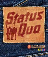STATUS QUO 5 CLASSIC ALBUMS 5CD ALBUM SET (2015) **free UK p+p**