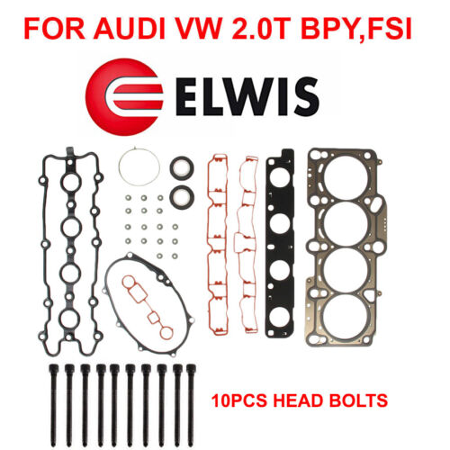 ELWIS Cylinder Head Gasket Set BOLTS;  AUDI A4 2.0T PASSAT 2.0T FSI Engine