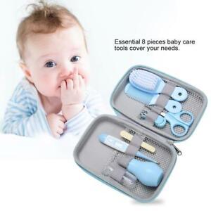 8Pc-Newborn-Babys-Kid-Thermometer-Nail-Hair-Health-Care-Grooming-Brush-Set-Kits
