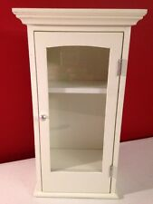 """TABLETOP OR WALL HANGING WHITE CURIO CABINET - 13.7"""" TALL"""