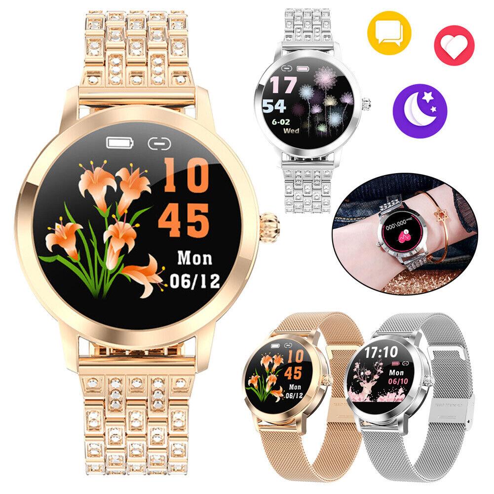 Women Lady Smart Watch Stainless Steel Wristband Heart Rate Monitor Bracelet heart lady monitor rate smart stainless steel watch women wristband