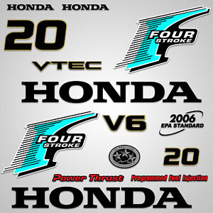Teal Wholesale Decals Outboard Engine Graphics kit Sticker Decal Compatible with Honda 225
