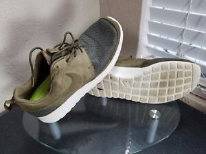 6ce95b7fc7eed Nike Roshe Run Woven Mens Size 9 Squadron Green Birch Running Shoes ...