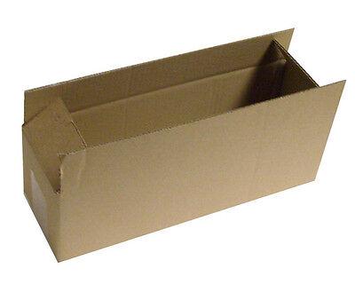 """50 Postal Storage Cardboard Boxes 13.5 x 4 x 4"""" S/W"""