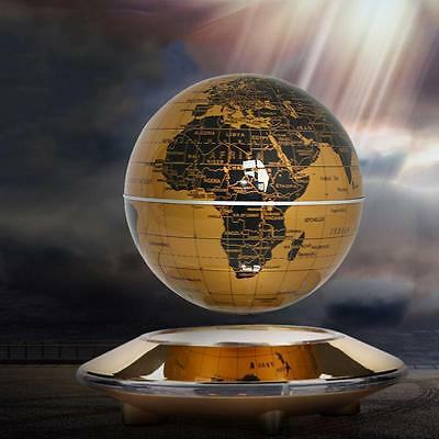 "6"" LED Magnetic Rotating Levitation Floating World Map Maglev Globe Tellurion"