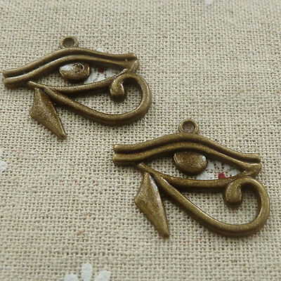 Free Ship 96 pieces Antique bronze Egyptian Eye of Horus pendant 31x26mm #591