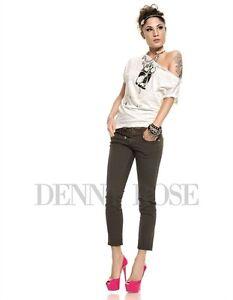 DENNY-ROSE-ART-4630-PANT-5-TASCHE-SUPER-ELAST-LUNGH-CAVIGLIA