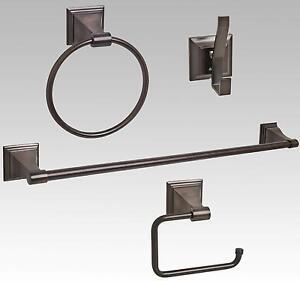 Oil Rubbed Bronze Bathroom Hardware Accessory Set