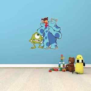 Monsters Inc Monster Cartoon Kids Room Wall Decor Sticker Decal 20