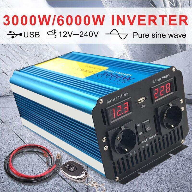 Spannungswandler 12V-230V Reiner Sinus 3000W/6000W Wechselrichter remote control
