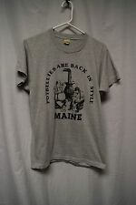 "Mens Shirt Size L By Screen Stars Gray Tee "" Potbellies are back in style Maine"""
