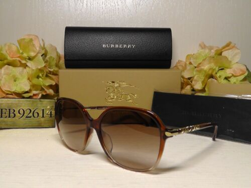 BUBERRY B4228F Oversized Brown Pink Frame Sunglasses 59 16 145***NIB***ITALY**