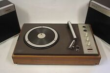 Vintage Philips (Boots) Record Player Model no. 604 In Great Order + Speakers